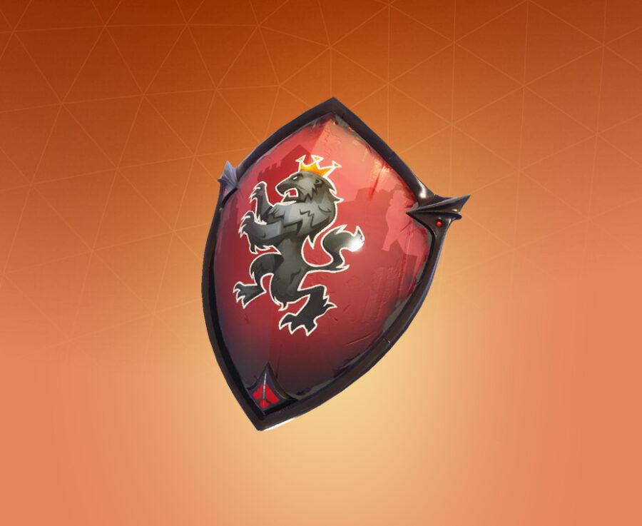 Red Shield Back Bling