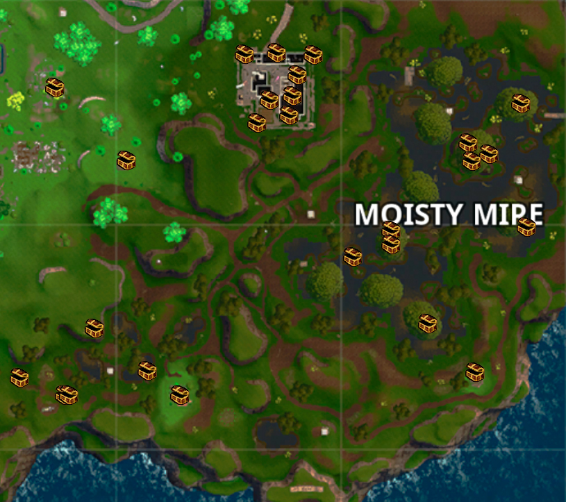 Moisty Mire Chest Locations Gas Station Locations Treasure Map