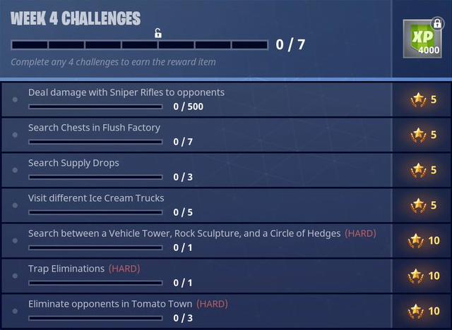 Fortnite Season 3 Battle Pass Challenges Week 4 Guide Flush