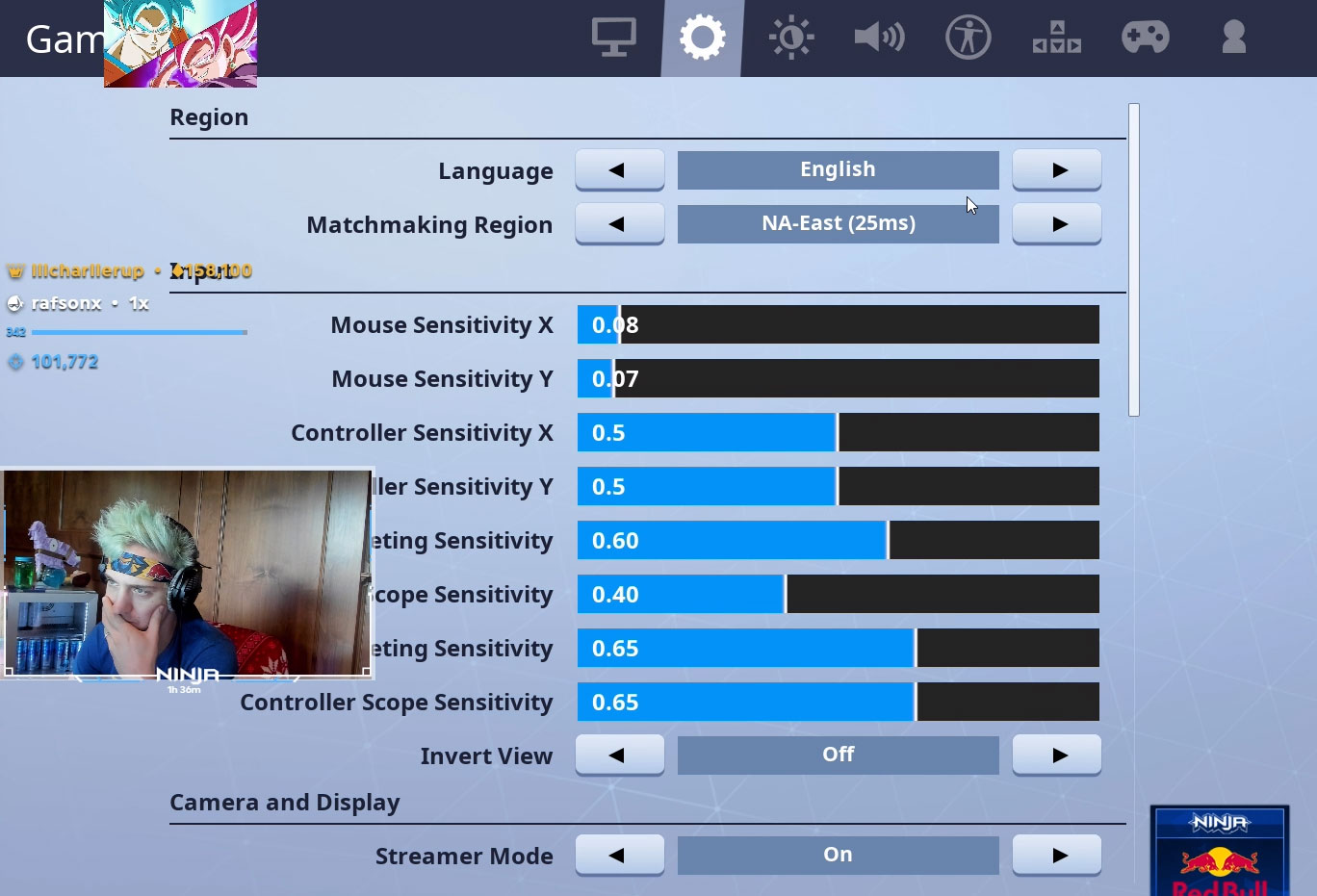 fortnite game settings - best fortnite binds for pc