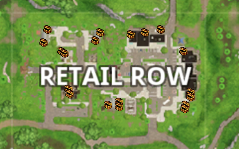 Fortnite Retail Row Guide Landing Spots Landmarks Chest