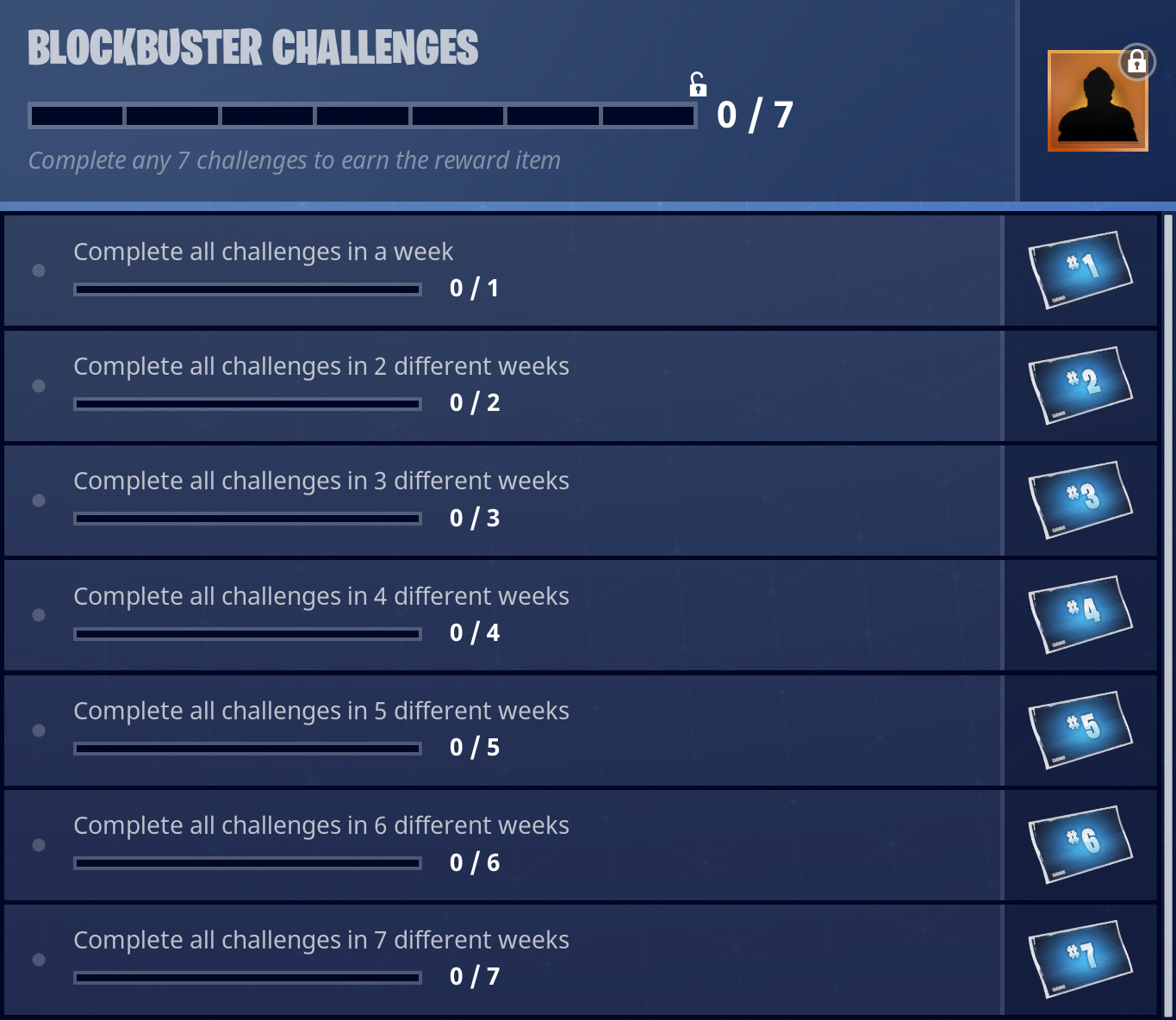 fortnite blockbuster challenges if you ve been solid at completing your battle pass in the past few seasons then this shouldn t be a problem for you - blockbuster skin season 4 fortnite