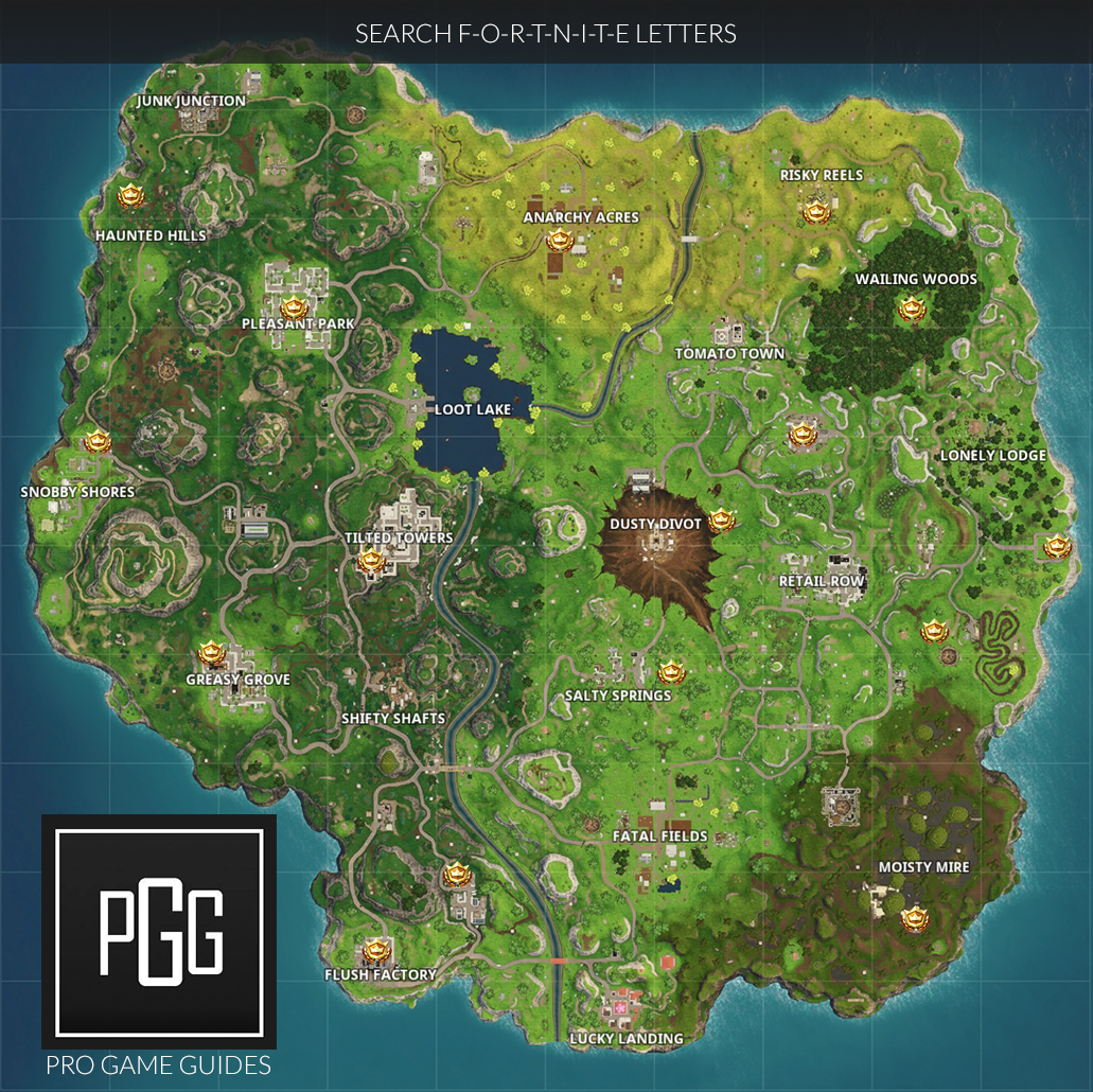 Search Fortnite Letters Location  Season  Battle Pass Challenge