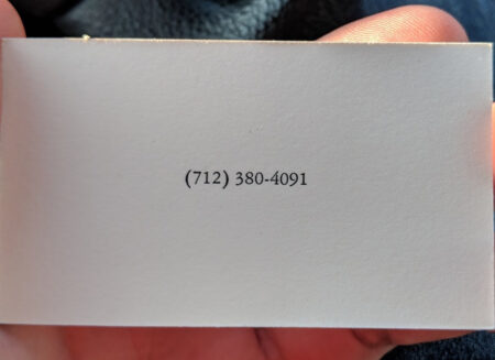 Season 5 Business Card Number