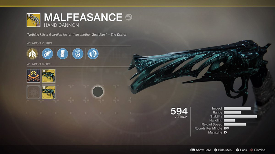 48ed09d7fb7 How-to Get Malfeasance – Quest Steps Guide (Exotic Hand Cannon ...