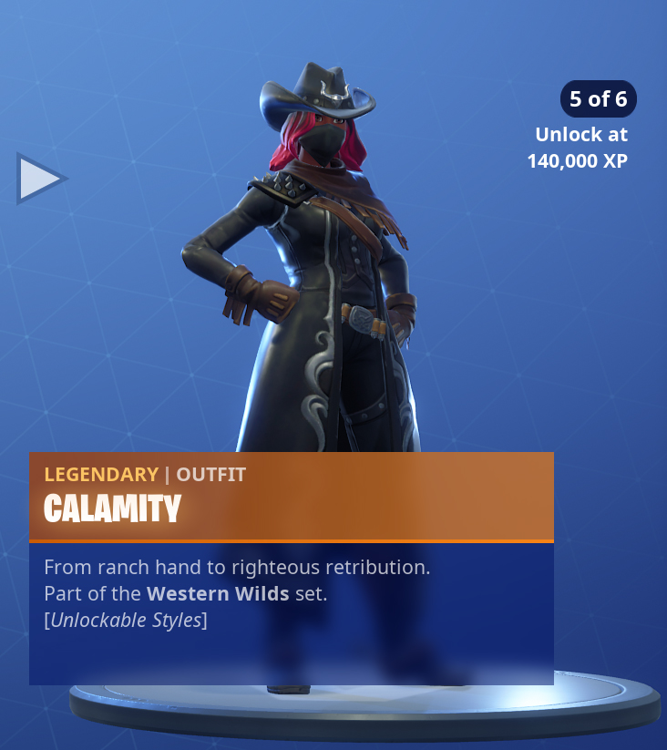 Fortnite Calamity Skin Outfit Pngs Images Pro Game