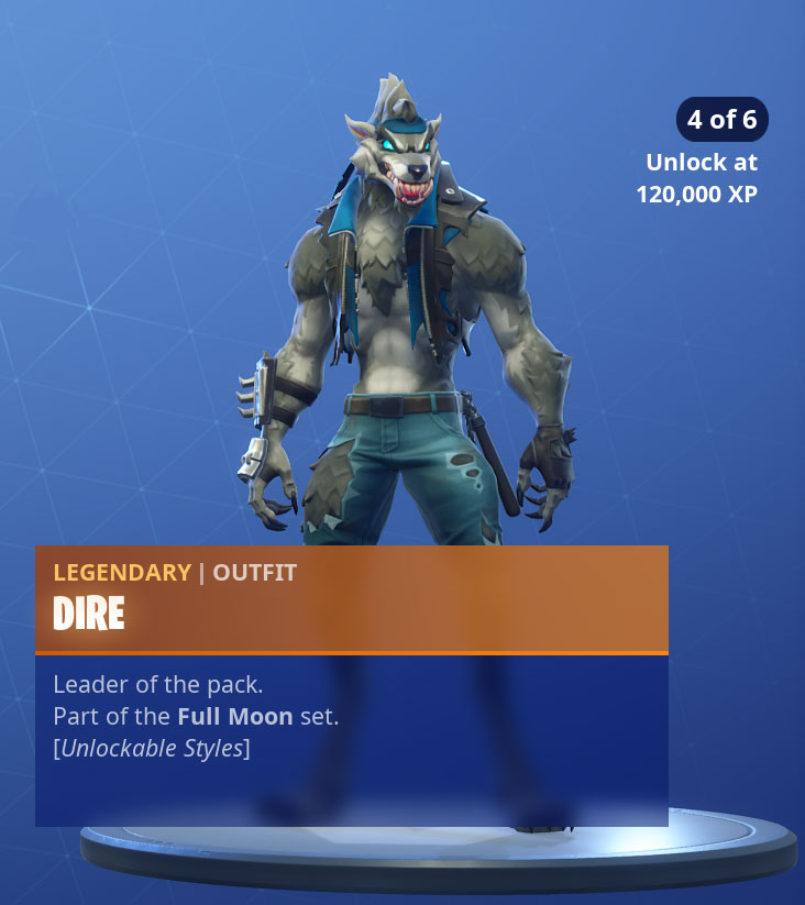 Fortnite Dire Skin Outfit PNGs