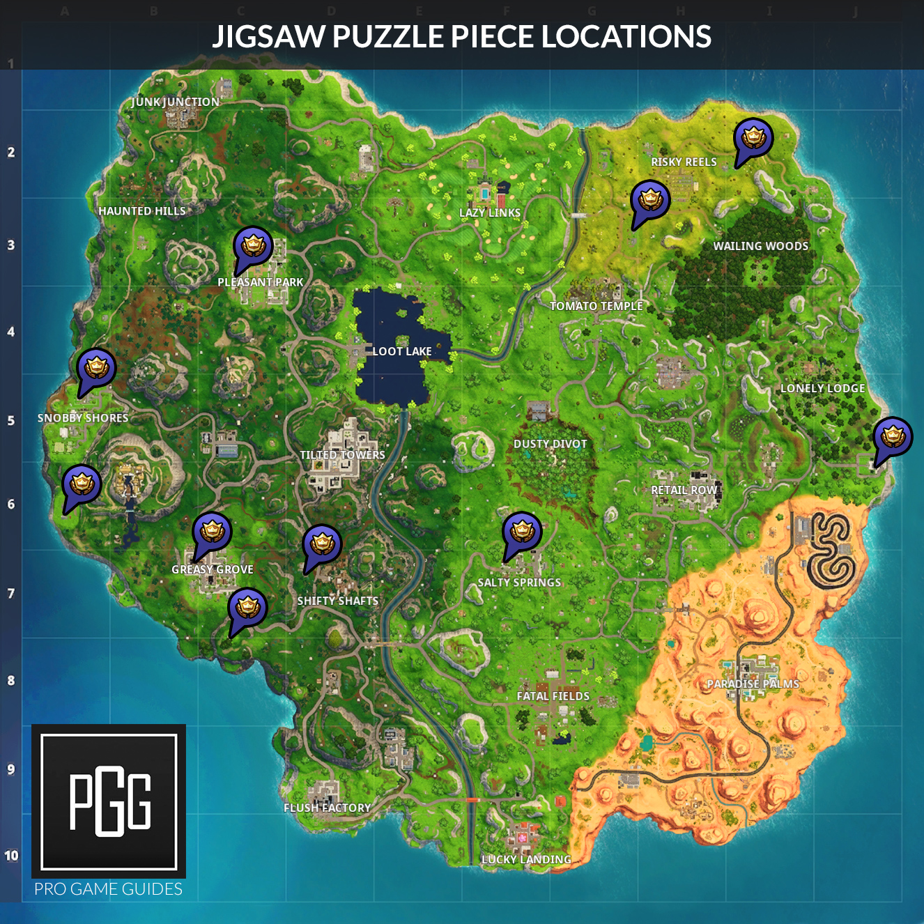 Fortnite Season 5 Week 10 Challenges List Locations Solutions