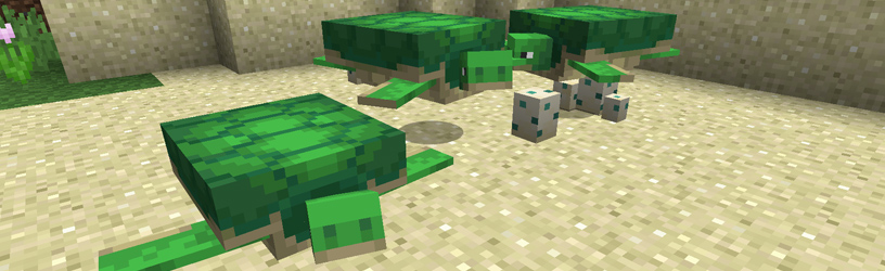 Minecraft: How-to Breed Turtles – Babies, Scutes, and