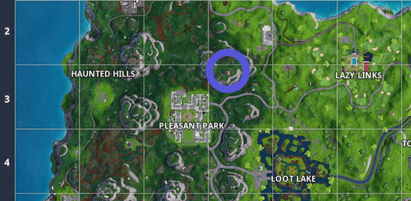 overlooking pleasant park is a red tent area that has three potential chests and multiple airplane spawns one of the chest spawns is right outside - fortnite best spots to land