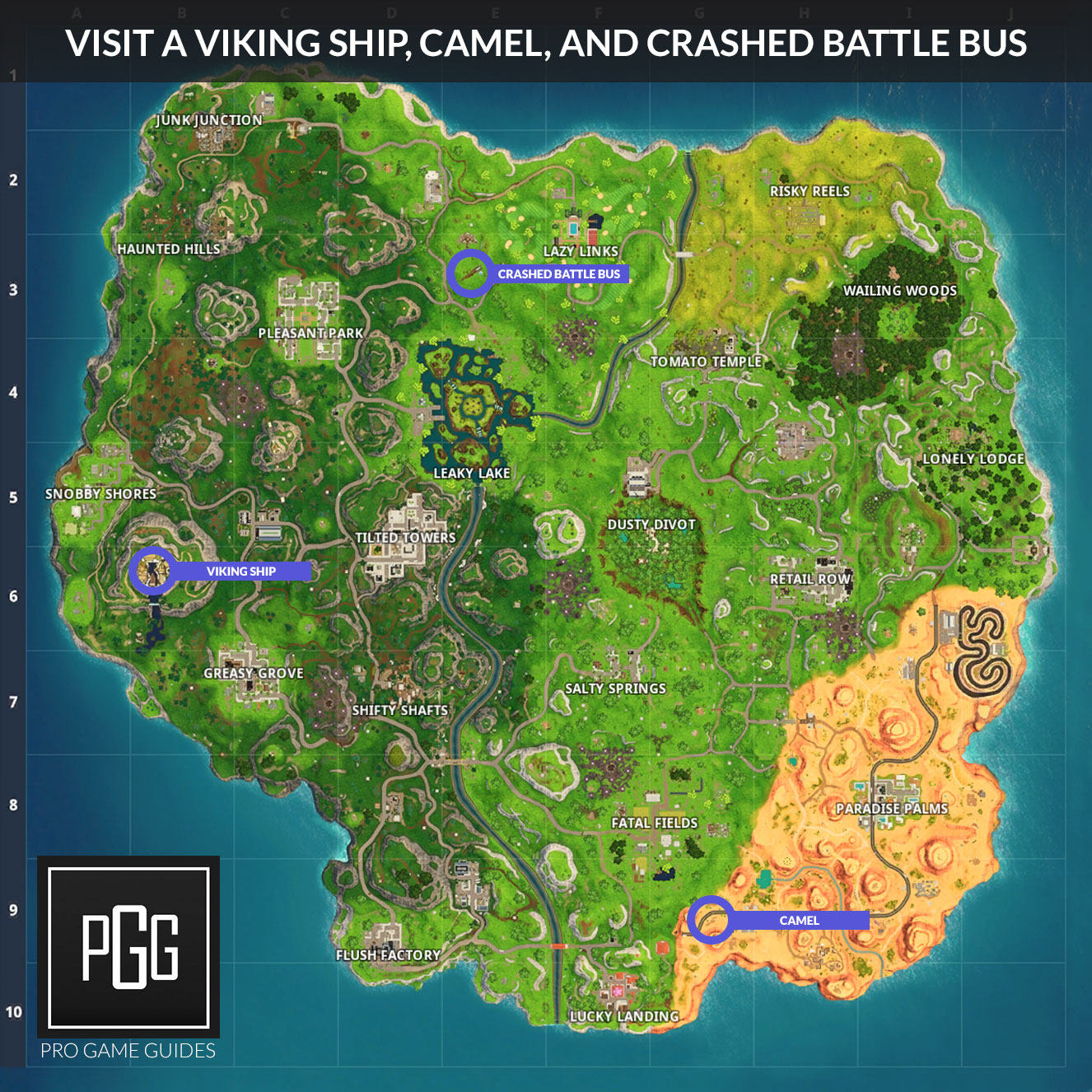 Fortnite Season 6 Week 10 Challenges List Cheat Sheet Locations