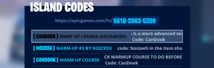 Fortnite Warm Up Courses Codes List – Best Warm Ups to Get Ready to