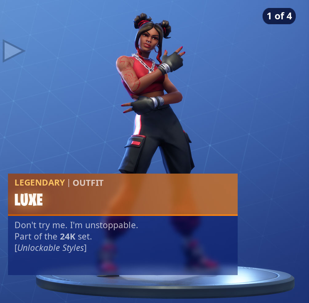 Fortnite Luxe Skin Outfit Pngs Images Pro Game Guides