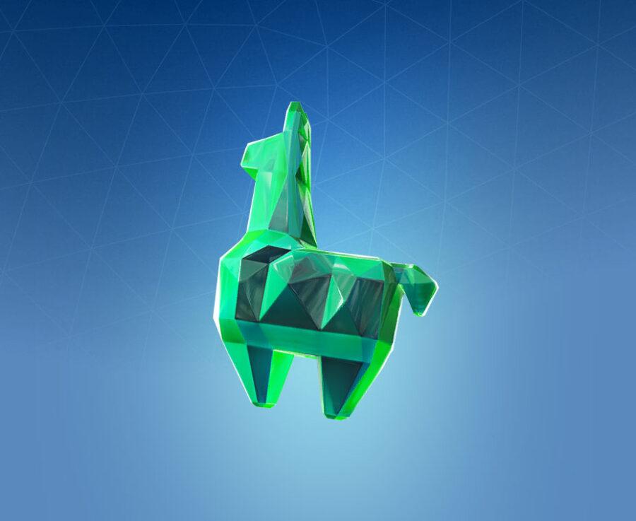 Crystal Llama Back Bling