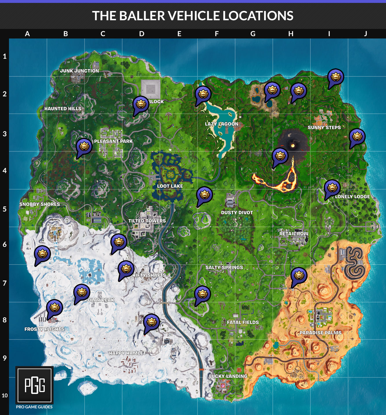 if you are curious about baller locations check out our guide to them or the map below - 5 highest spots fortnite