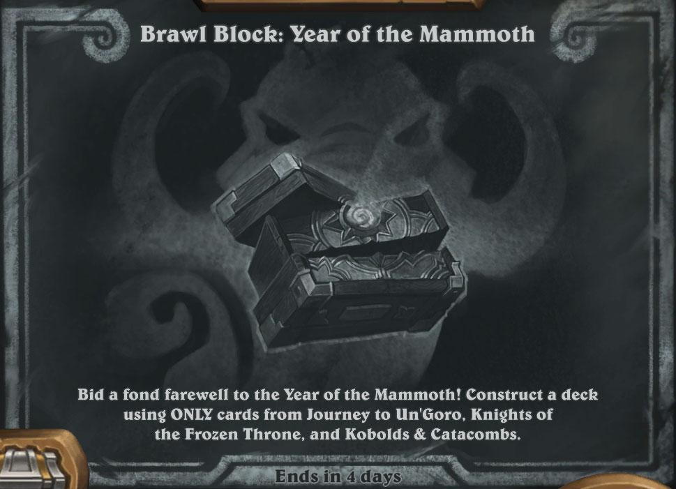 Tavern Brawl: Brawl Block: Year of the Mammoth Deck Lists