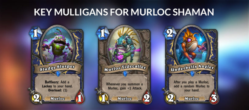 An image of the key mulligans for Murloc Shaman.