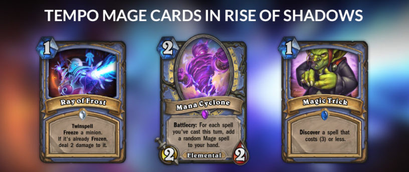 An image of possible inclusions in Tempo Mage from Rise of Shadows.