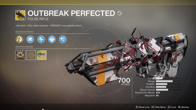 How-to Get the Outbreak Perfected Pulse Rifle Quest Steps