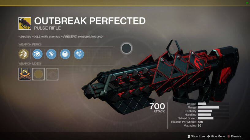 How-to Get the Outbreak Perfected Pulse Rifle Quest Steps Guide