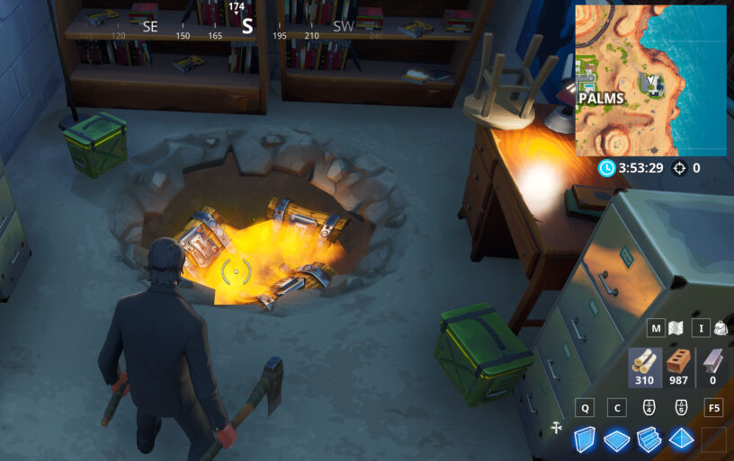 another option with this spot is to head south to mini junk junction which is unnamed spot just south of the mountain both john wick s house and - fortnite mexico town