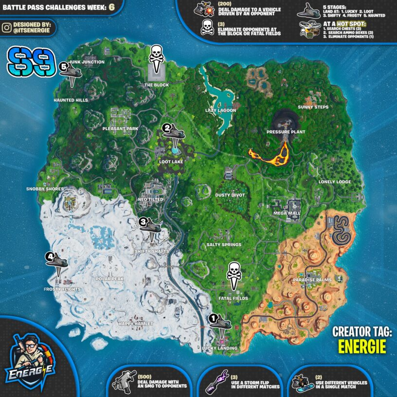 Fortnite Season 9 Week 6 Challenges List, Cheat Sheet, Locations