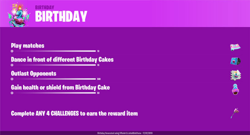 Fortnite S 2nd Birthday Guide 2019 Skins Challenges Start Date Pro Game Guides