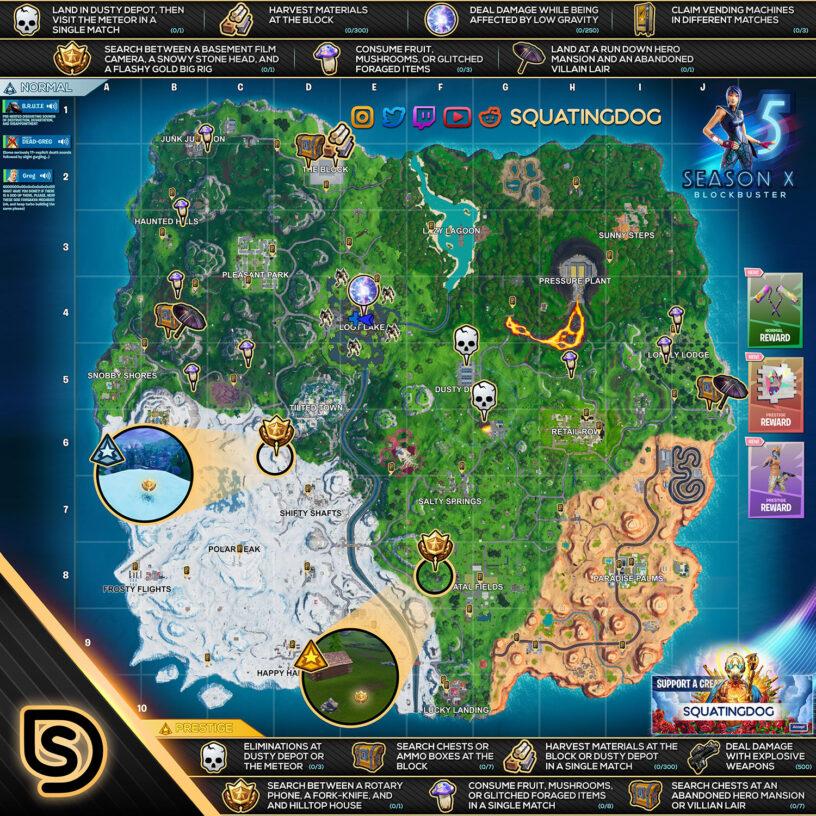 Fortnite Season 10 Blockbuster Challenges Guide – Cheat