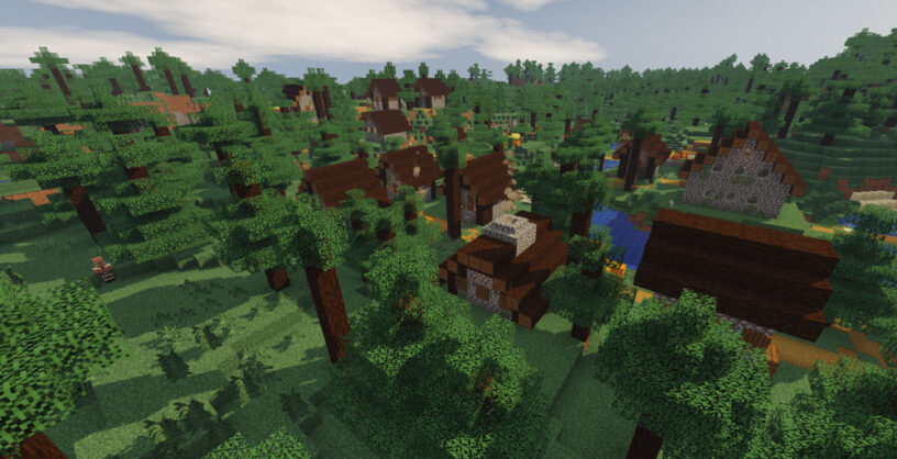 Example screenshot of Chocapic13's Toaster Edition shader in Minecraft