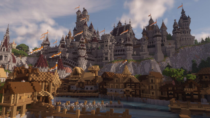 Example screenshot of Continuum shader in Minecraft
