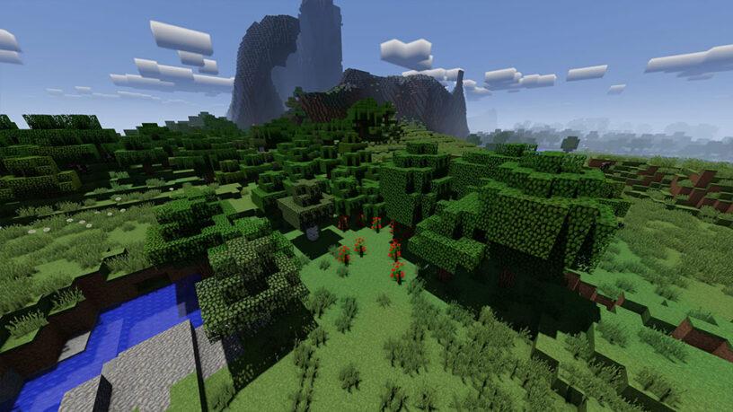 Example screenshot of VanillaPlus shader in Minecraft