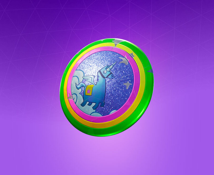 Llamacorn Shield Back Bling