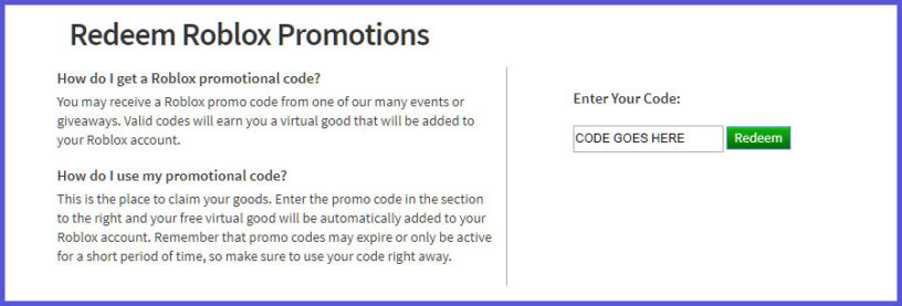 Roblox Promo Codes List November 2020 Free Clothes Items Pro Game Guides