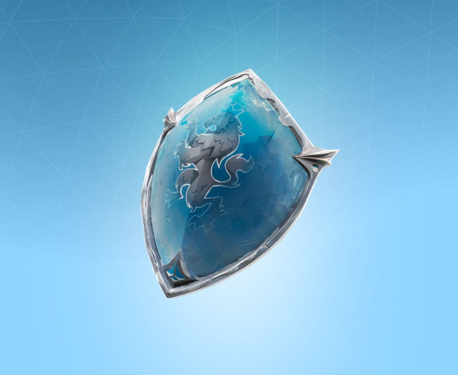 Frozen Red Shield Back Bling