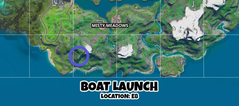 Fortnite Boat Launch, Coral Cove, Flopper Pond Locations ...