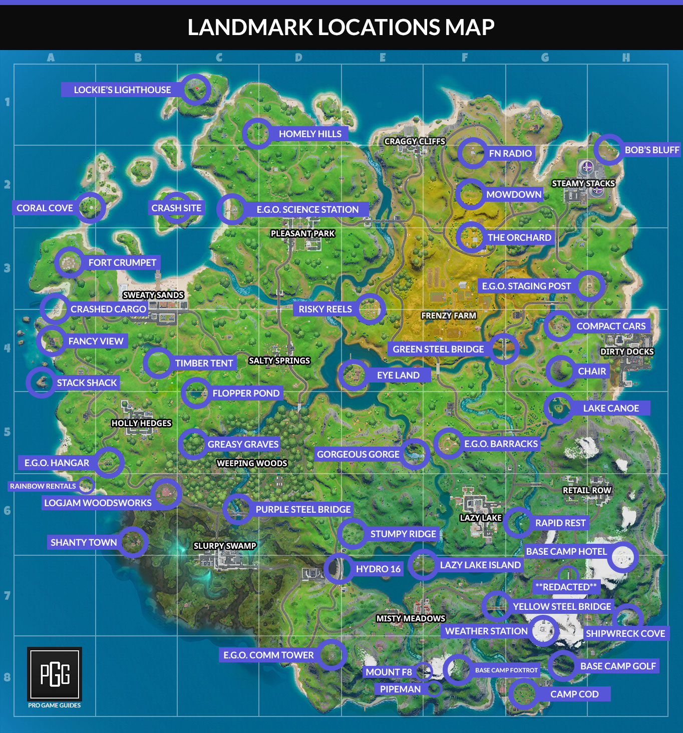 Fortnite Landmark Locations Map Discover Questchallenge