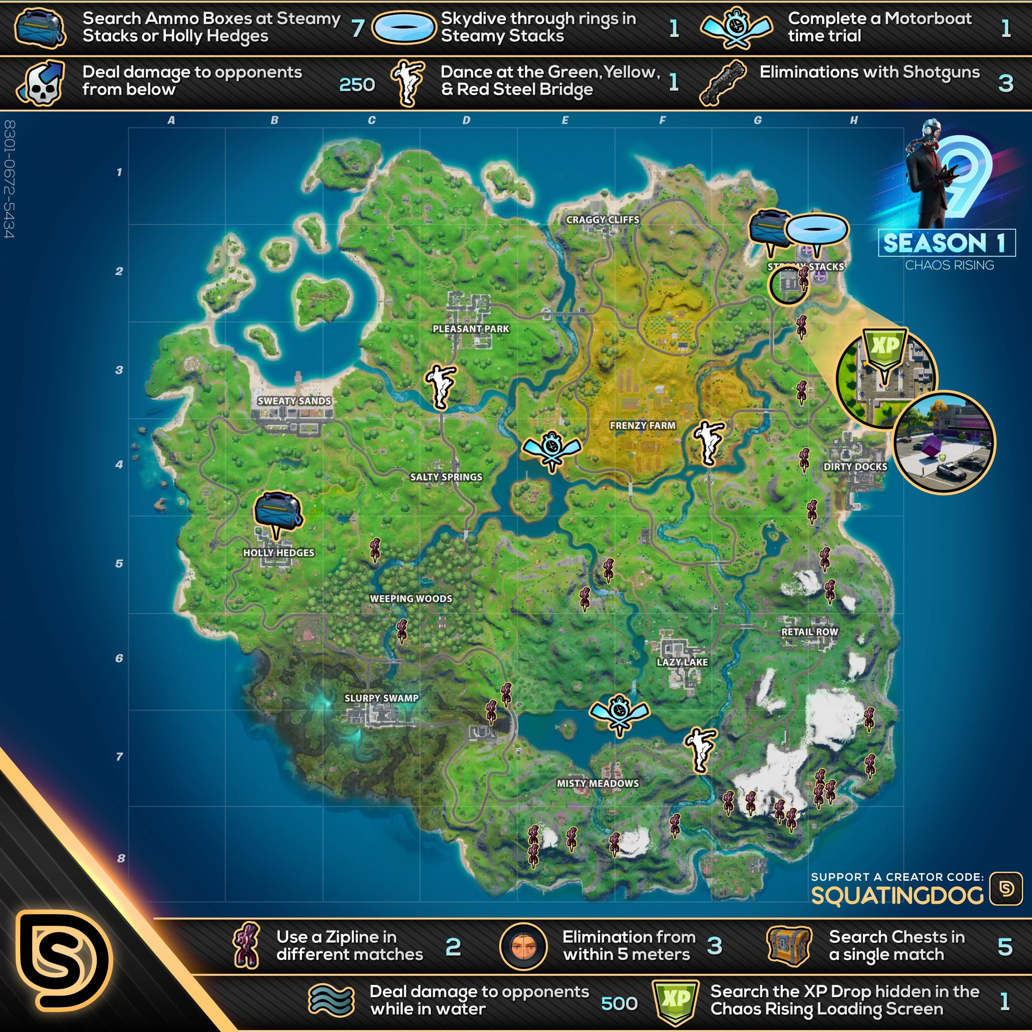 Fortnite Chaos Rising Challenges Cheat Sheet Loading