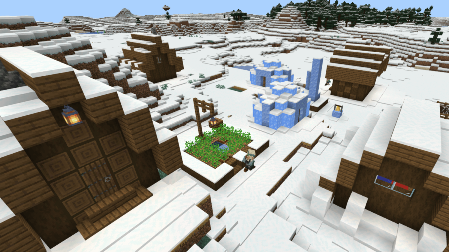 An ice village.