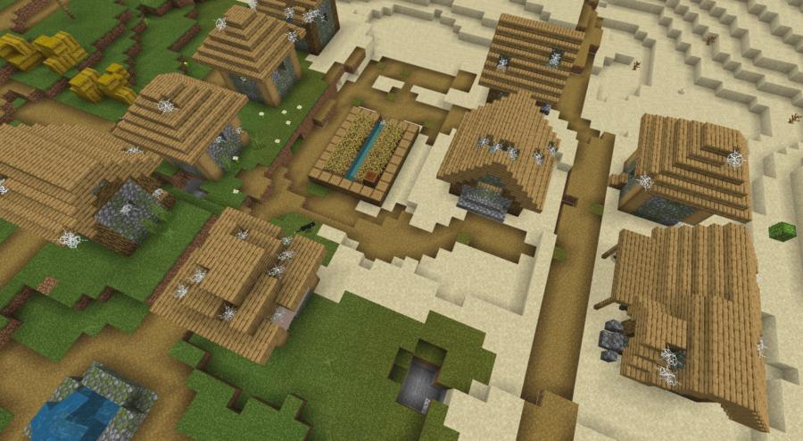An abandoned desert village.
