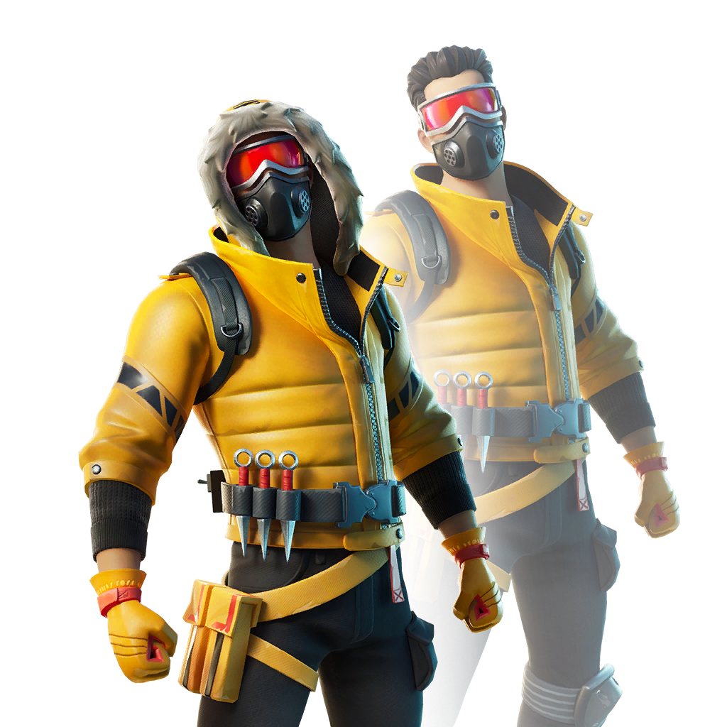 Fortnite Caution Skin - Outfit, PNGs, Images - Pro Game Guides