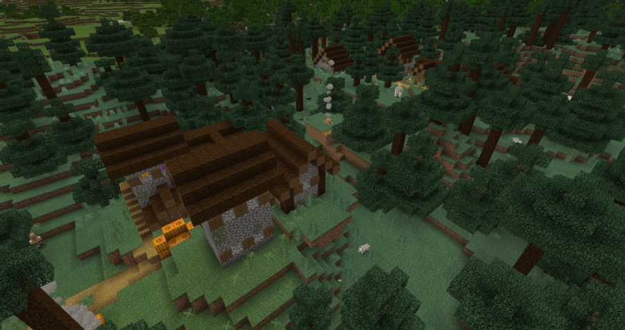 A Taiga Village in Minecraft.