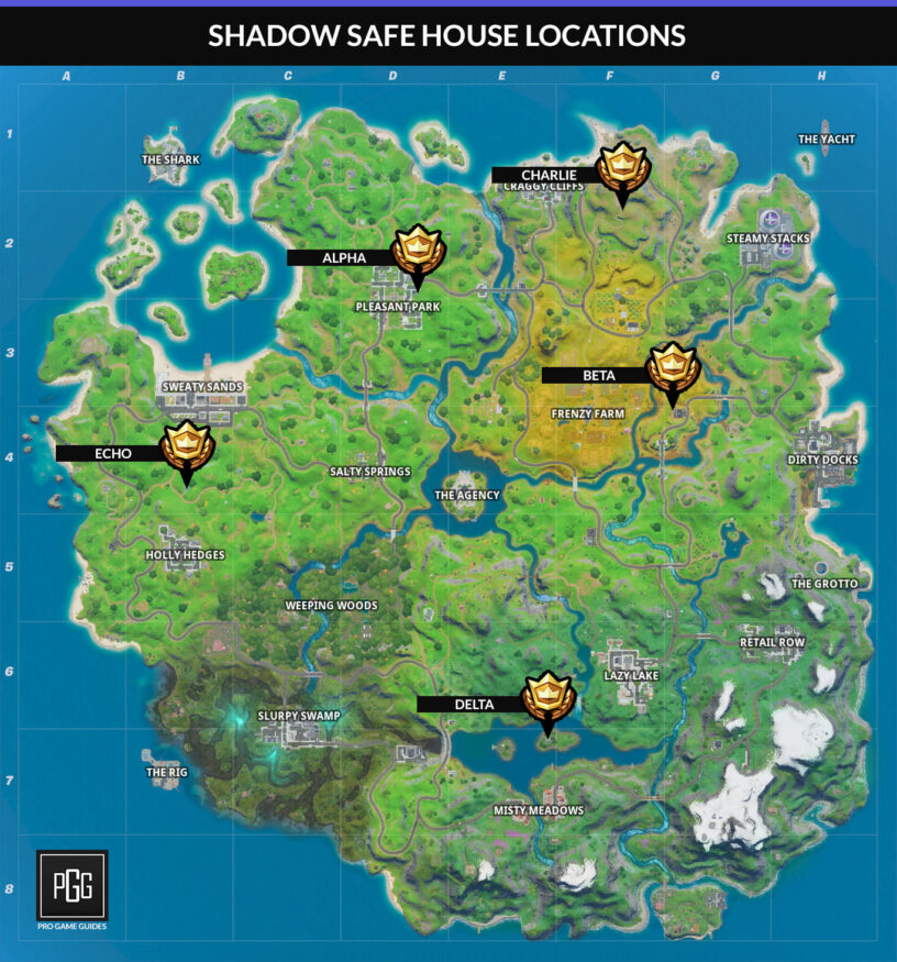 Fortnite Shadow Safe House Locations Pro Game Guides