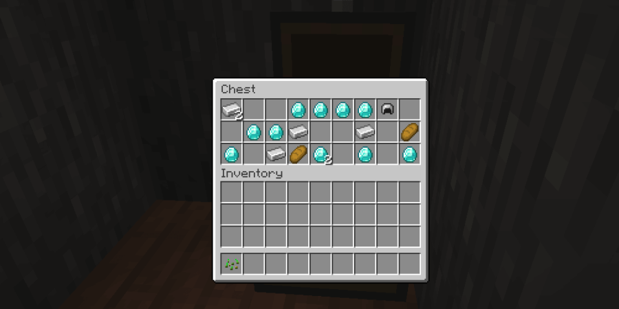A screenshot of 11 diamonds in a chest.