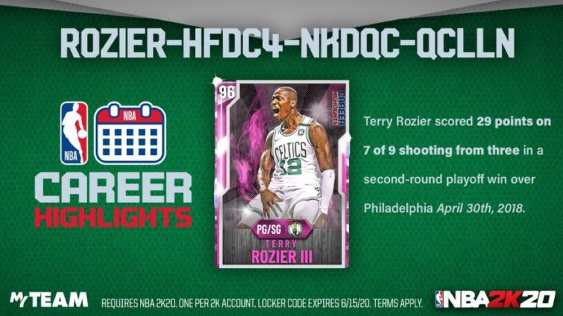 NBA 2k20 Locker Codes