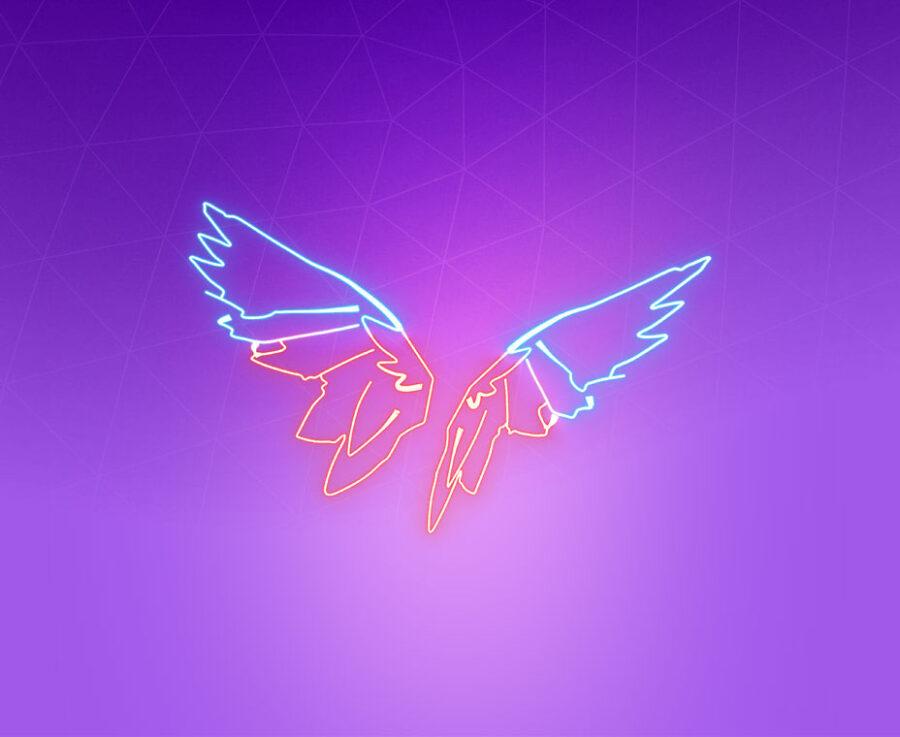 Neon Wings Back Bling