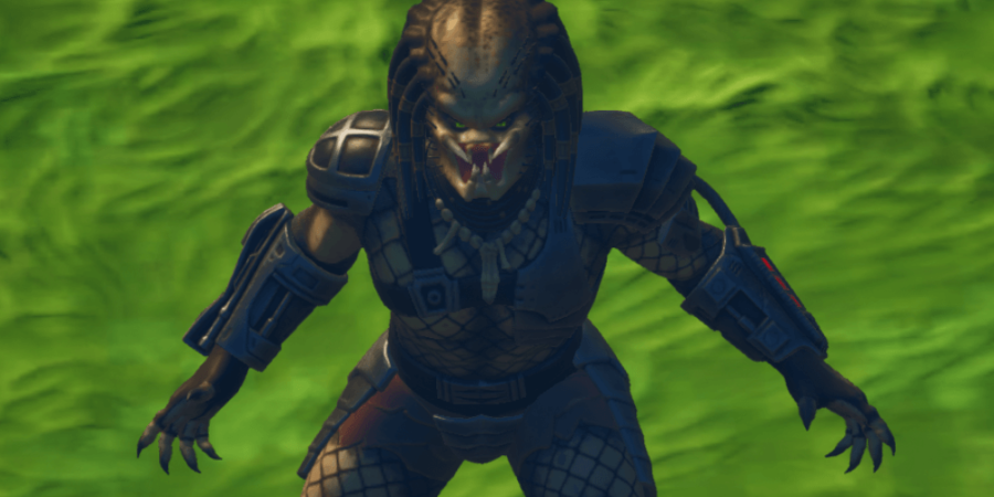 Predator looking menacing in Fortnite.