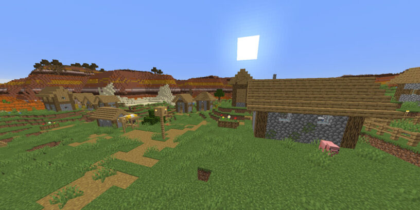 Mesa and village spawn seed
