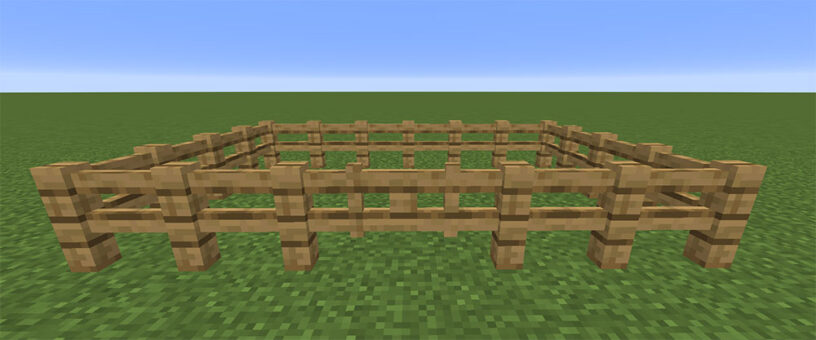 Completed wood fence example