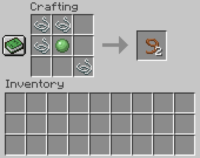 Crafting recipe for a lead