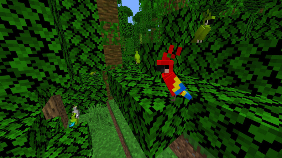 Minecraft how to tame parrots